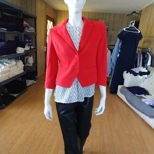 EUC H&M Red 3/4 Sleeve Jacket